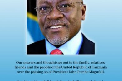 UHRC Condolences to the People of  the Republic of Tanzania