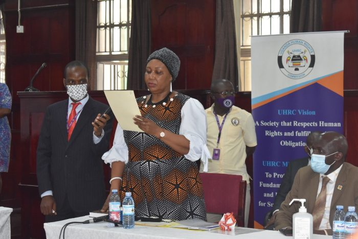 New UHRC Chairperson and Members of the Commission sworn-in